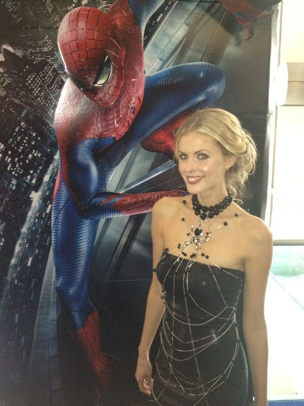 Donna Air Spiderman Dress at The Amazing Spider-Man Premiere